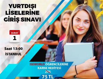 İstanbul - Yurt Dışı Liselere Giriş Sınavı