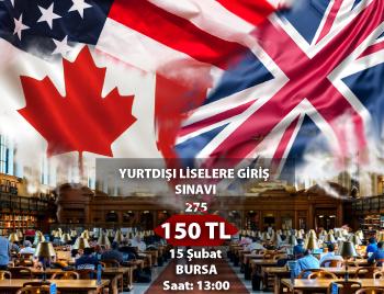 Bursa Yurt Dışı Liselere Giriş Sınavı